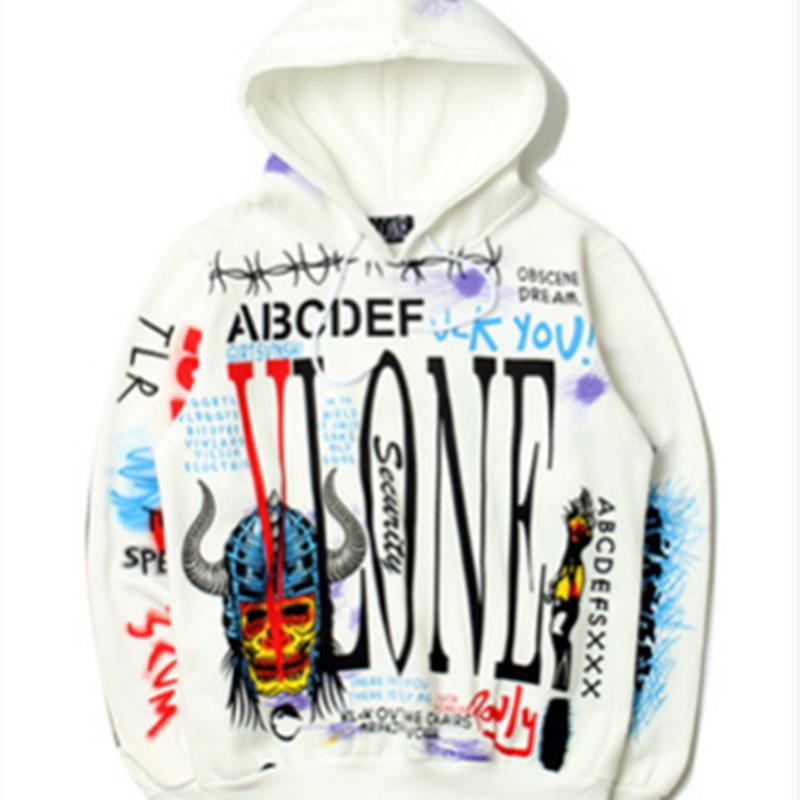 Vlone Graffiti Pullover Hoodie