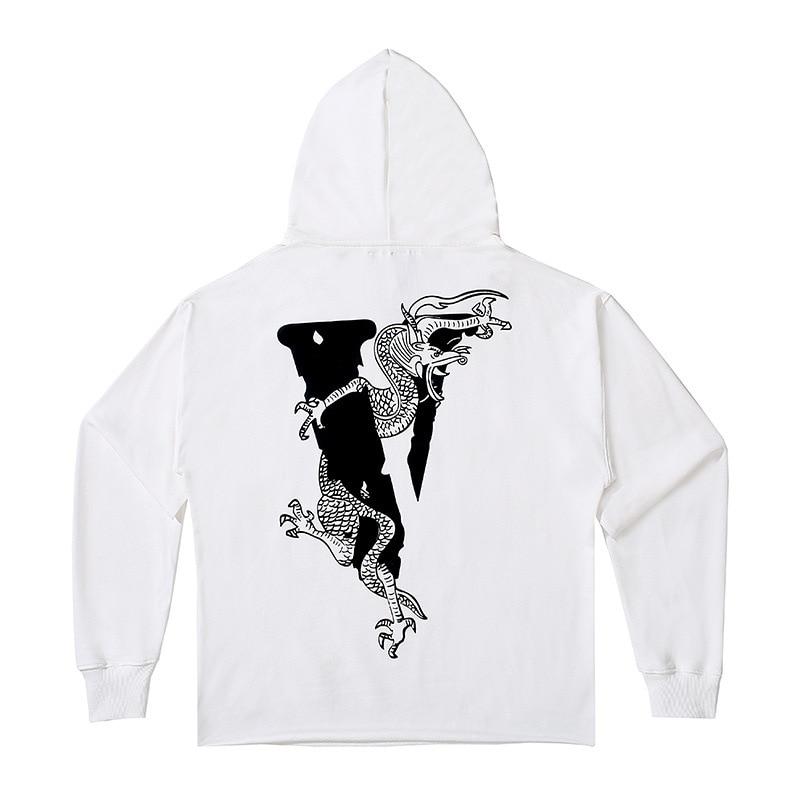Vlone x Clot Dragon Hoodie Black/White