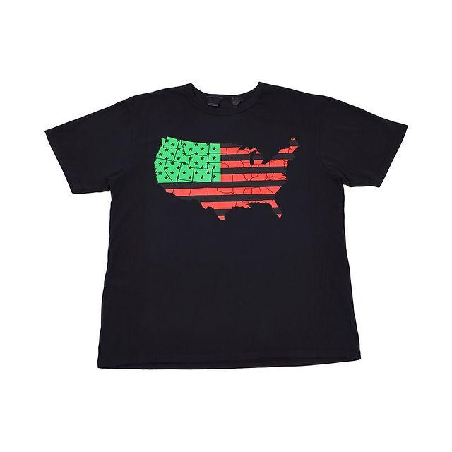 VLONE Black USA Flag Tee