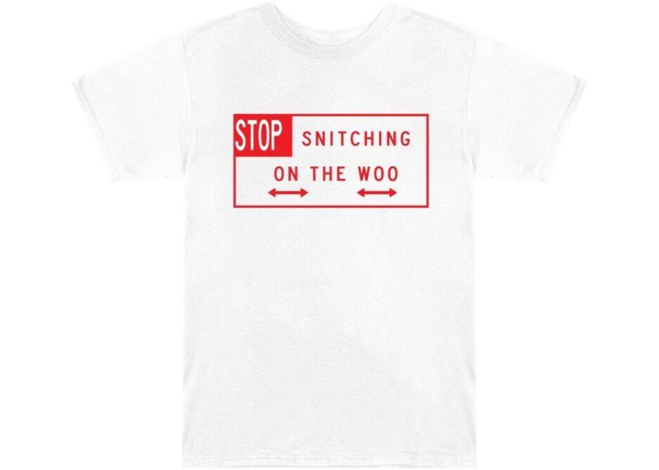 VLONE Pop Smoke Stop Snitching T-Shirt