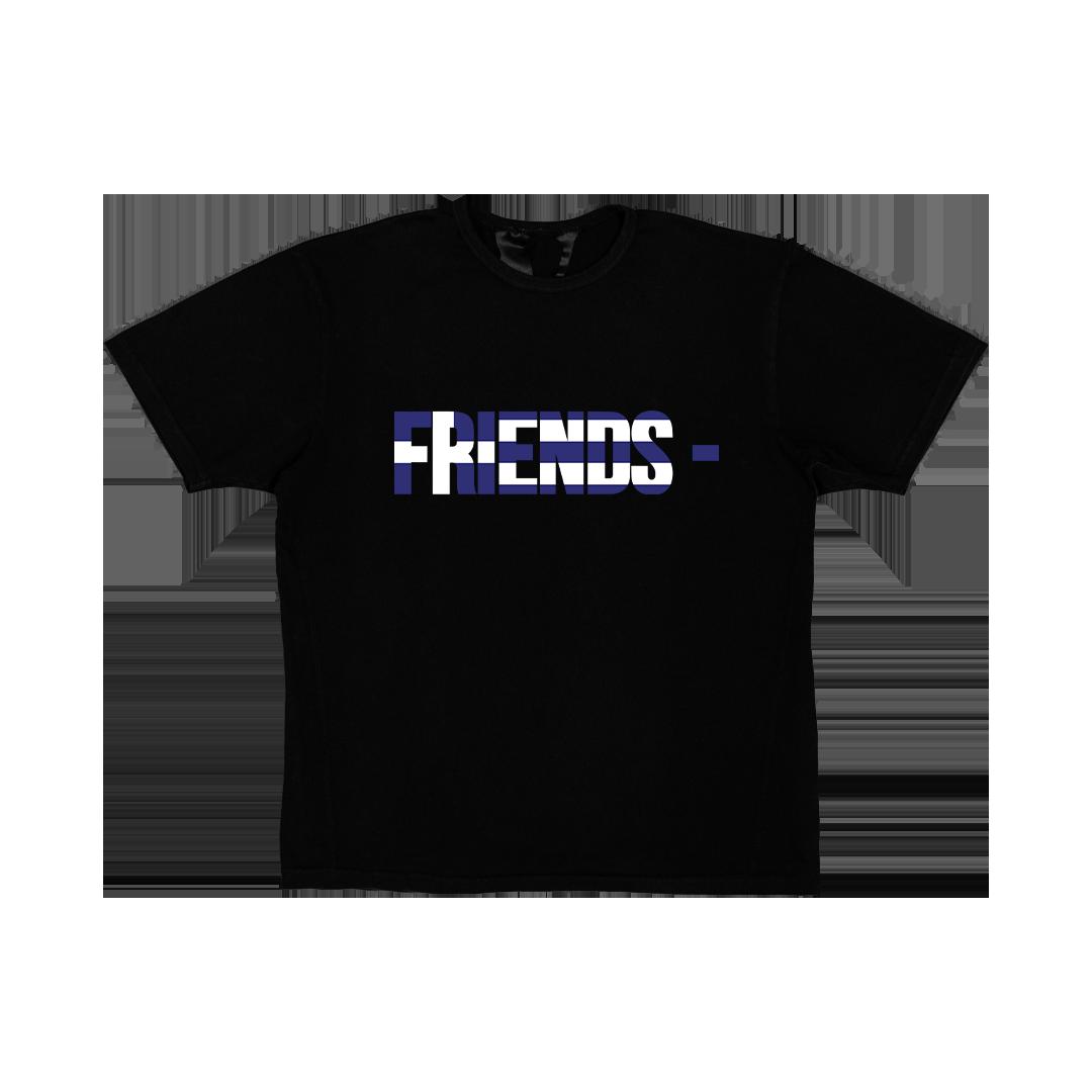 FRIENDS - GRC T-SHIRT - BLACK front