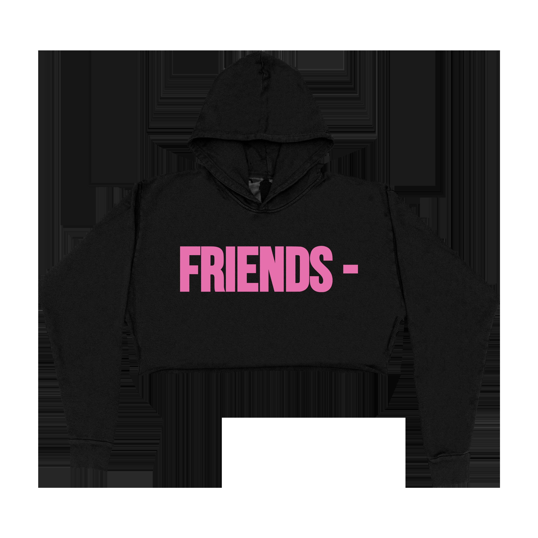 FRIENDS - PINK HOODIE - BLACK (WOMENS) front