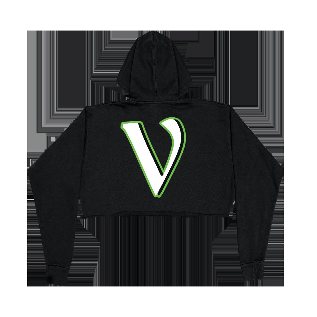 VLONE SUPPORT HOODIE - BLACK (WOMENS) back